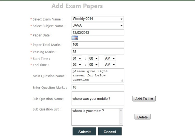 Acwi-Schools Management Information System